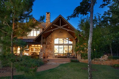 traditional lake home built on cedar creek lake tx