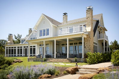 wraparound porch custom built home