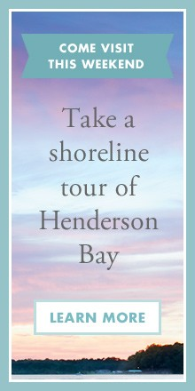 Come visit this weekend - Take a shoreline tour of Henderson Bay