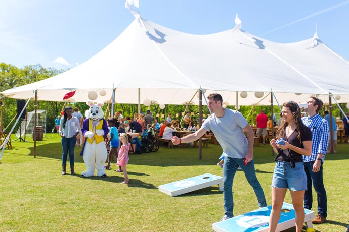 Save the date, Spring Fling event bean bag toss with Easter bunny at Long Cove
