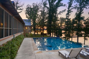 Gorgeous pool with a view of the lake at Long Cove
